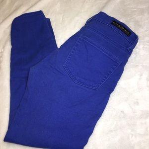 Rock & Republic Royal Blue Ankle Capri Jeans